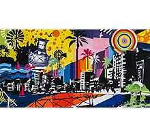 Graffiti cityscape Photographic Print