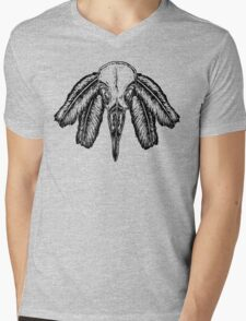 Aves (Black) Mens V-Neck T-Shirt