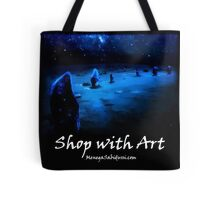 Milkyway over the Hurlers - Shop with Art Tote Bag