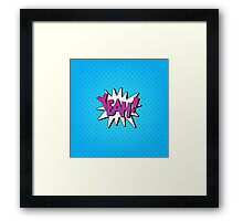 Comics Bubble with Expression Yeah in Vintage Style. Framed Print