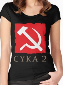 CYKA 2 Funny, Dota 2 Shirts Women's Fitted Scoop T-Shirt