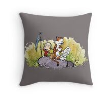 Calvin And Hobbes mapping Throw Pillow