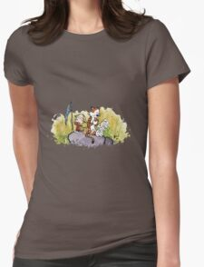 Calvin And Hobbes mapping Womens Fitted T-Shirt