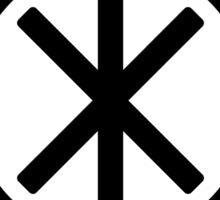 Odin's Protection No.1 (black) Sticker