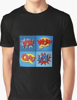Set of Comics Bubbles in Vintage Style Graphic T-Shirt