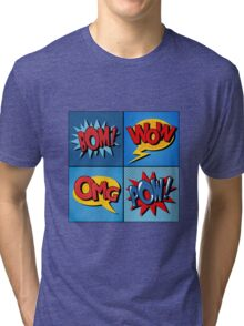 Set of Comics Bubbles in Vintage Style Tri-blend T-Shirt