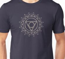 Throat chakra - warm grey Unisex T-Shirt