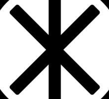 Odin's Protection No.1 (black white) Sticker