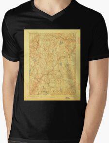 USGS TOPO Map Connecticut CT Gilead 331028 1892 62500 Mens V-Neck T-Shirt