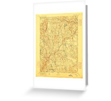 USGS TOPO Map Connecticut CT Gilead 331028 1892 62500 Greeting Card