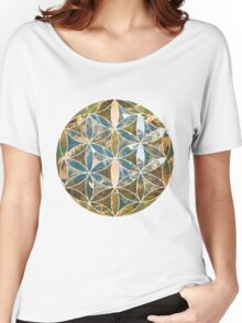Mountain Geometric Collage 2 Women's Relaxed Fit T-Shirt