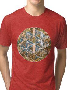 Mountain Geometric Collage 2 Tri-blend T-Shirt