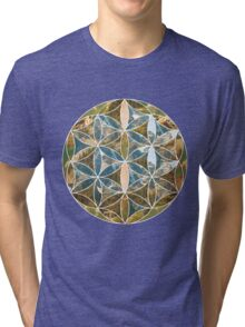 Mountain Geometric Collage 2 Tri-blend T-Shirt