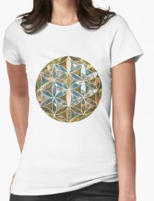 Mountain Geometric Collage 2 Womens Fitted T-Shirt