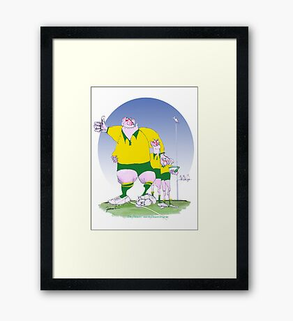 Aussie Rugby Chums, tony fernandes Framed Print