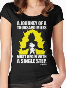 A Journey of A Thousand Miles (Lao Tzu) Women's Fitted Scoop T-Shirt