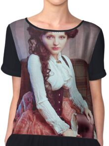 Steampunk victorian girl with tentacles Chiffon Top