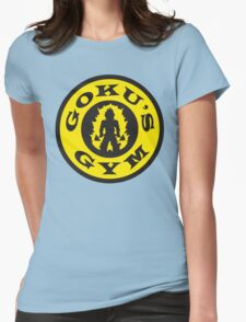 Goku's Gym (Gold's Gym Parody) Womens Fitted T-Shirt