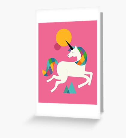 To be a unicorn Greeting Card