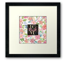 "Beautiful watercolor floral ""Love Pink"" Framed Print"