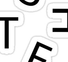 AESTHETIC Letters Sticker