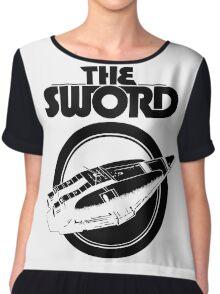 The Sword-white Chiffon Top