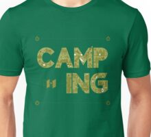 Camping Lettering. Travel Postcard.  Unisex T-Shirt
