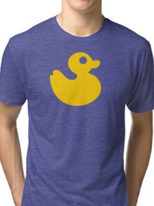 Floating Rubber Duck Tri-blend T-Shirt