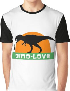 Little girl and dinosaur Graphic T-Shirt