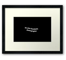 Casifer Framed Print