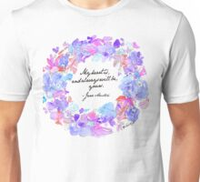 My heart is, and always will be, yours - Jane Austen Unisex T-Shirt