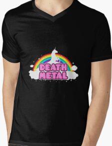 Death Metal Unicorn Mens V-Neck T-Shirt