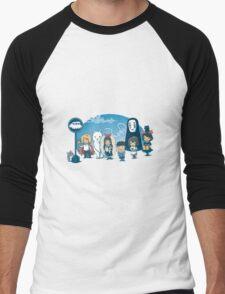 Glibli Men's Baseball ¾ T-Shirt