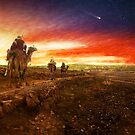 Bible - Wise men - The Magi arrive 1920 by Mike  Savad