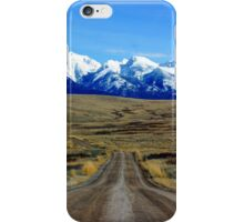 Mission Mountains Gravel Road iPhone Case/Skin