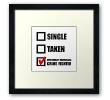 Crime Fighter Framed Print