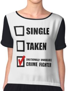 Crime Fighter Chiffon Top