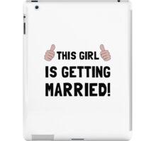 Girl Getting Married iPad Case/Skin