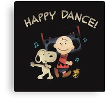 Happy Dance Snoopy Canvas Print