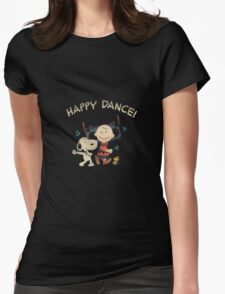 Happy Dance Snoopy Womens Fitted T-Shirt