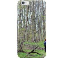 Woman hiker in the forest iPhone Case/Skin