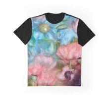 Poppies Peach & Blue Graphic T-Shirt