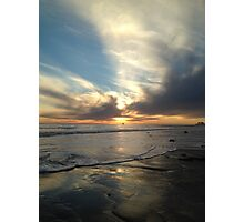 Wispy Sunset on the Beach  Photographic Print