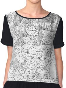 Diurnal Animals of the Forest Chiffon Top