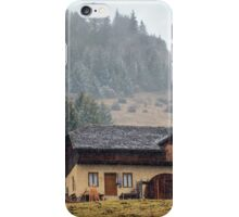 House by the mountains iPhone Case/Skin
