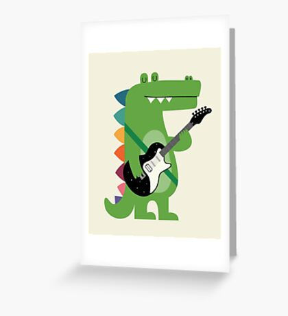 Croco Rock Greeting Card