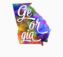 Georgia US State in watercolor text cut out T-Shirt
