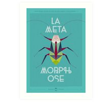La Metamorphose - Bleu Tiffany Art Print