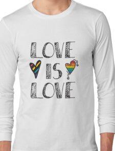 Love Is Love Doodles LGBT Long Sleeve T-Shirt