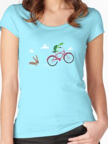 Tortoise: 1 Hare: 0 Women's Fitted Scoop T-Shirt
